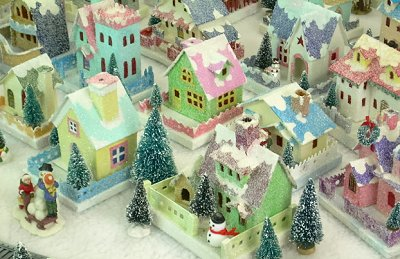 Building Glittered Putz Houses