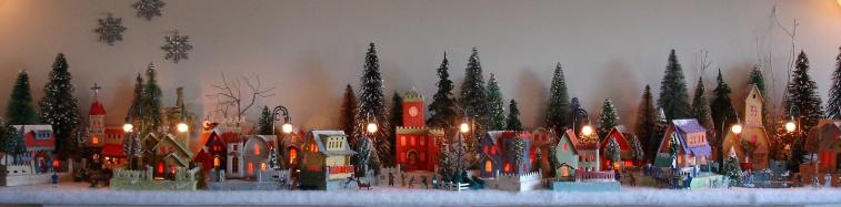 christmas village houses display