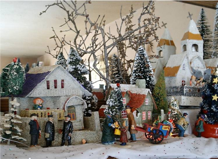 Christmas village putz display