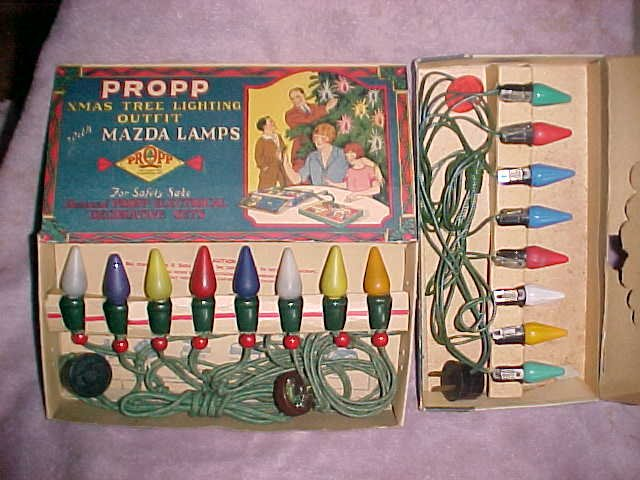 vintage Christmas light sets