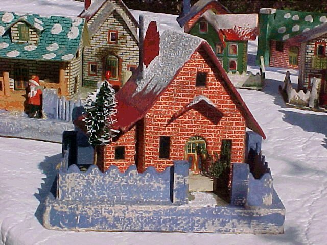 Large 1928 Japanese Christmas village house