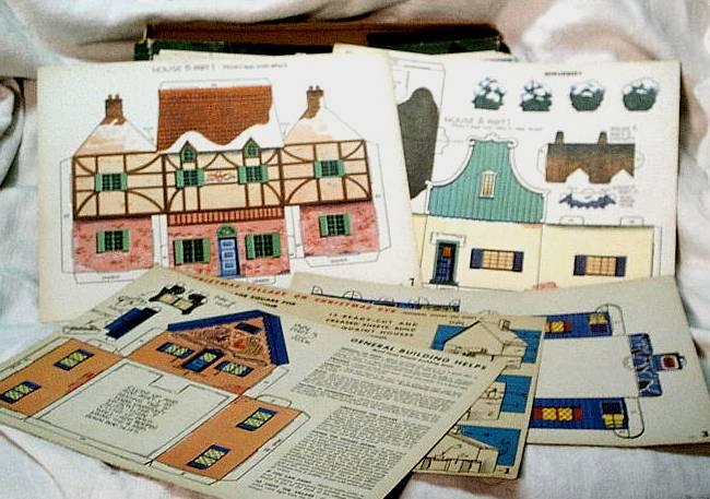 Christmas Village Putzes and train layouts during World War II.